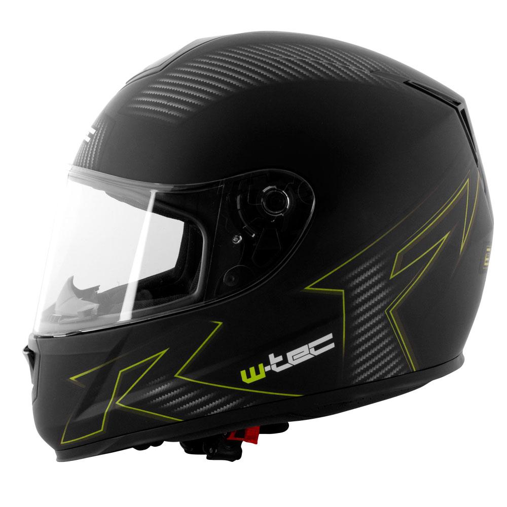 Moto helma W-TEC V159 černá s grafikou - XS (53-54)