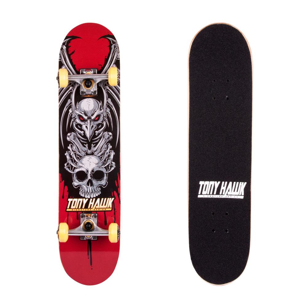 Skateboard Tony Hawk Popsi červená