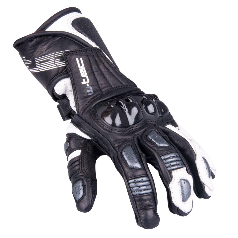 Pánské moto rukavice W-TEC Decane - stříbrná d546cbec0d