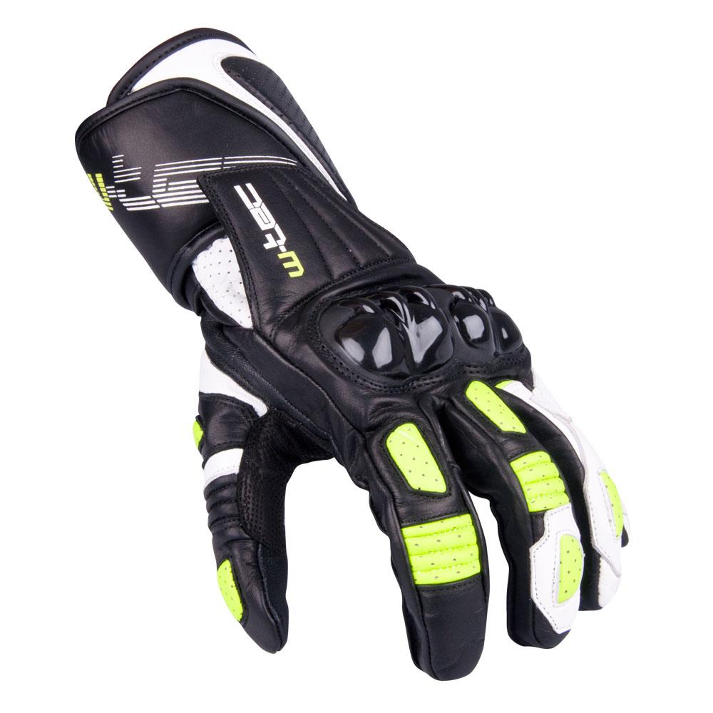 Pánské moto rukavice W-TEC Decane zelená - M