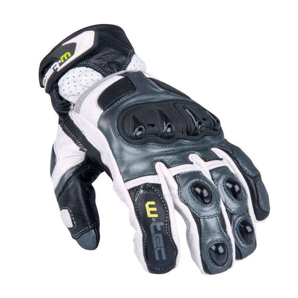 Pánské moto rukavice W-TEC Octane bílá gunmetal - S