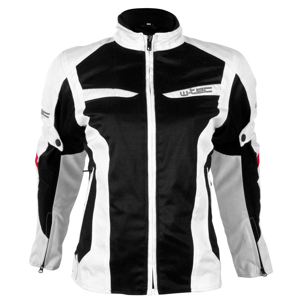 Dámská moto bunda W-TEC Ventex Lady bílo-černá - XS