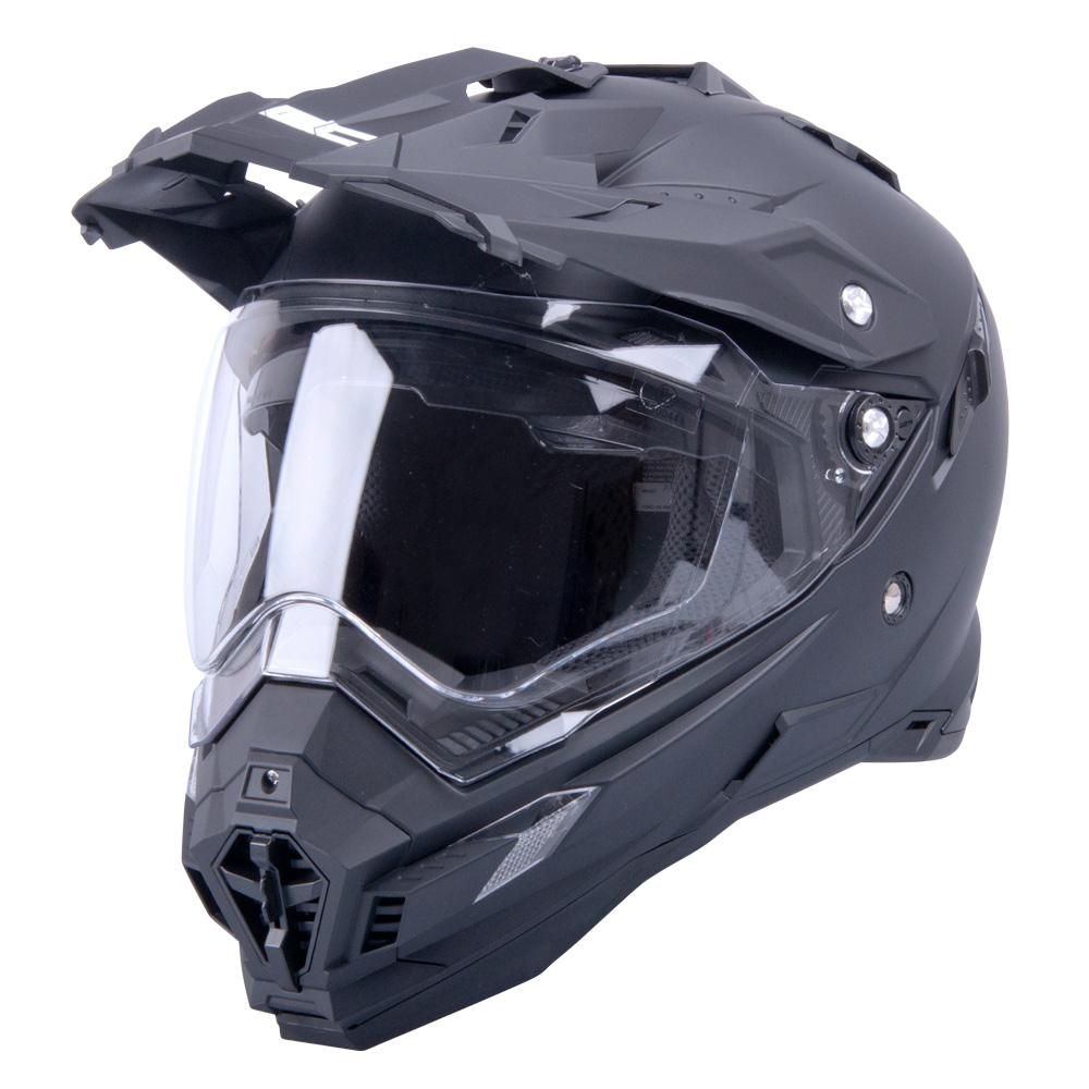 Motokrosová přilba W-TEC AP-885 Pearl Black - L (59-60)