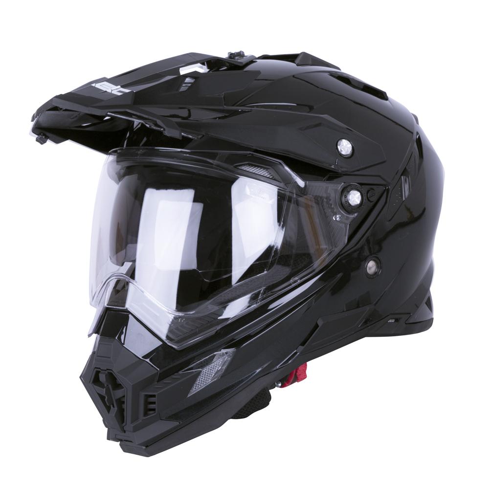 Motokrosová přilba W-TEC AP-885 Pearl Black - XL (61-62)