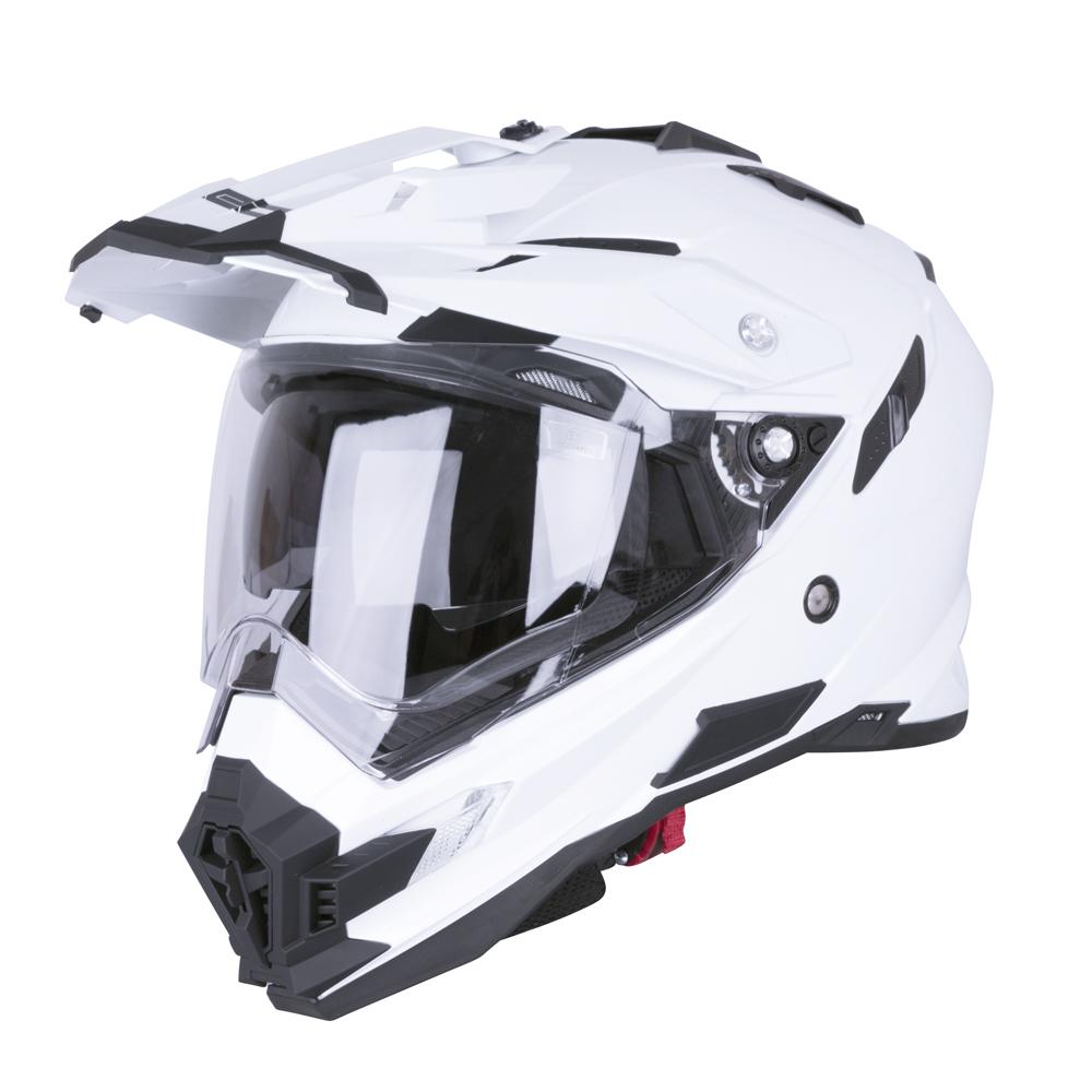 Motokrosová přilba W-TEC AP-885 Pearl White - XL (61-62)