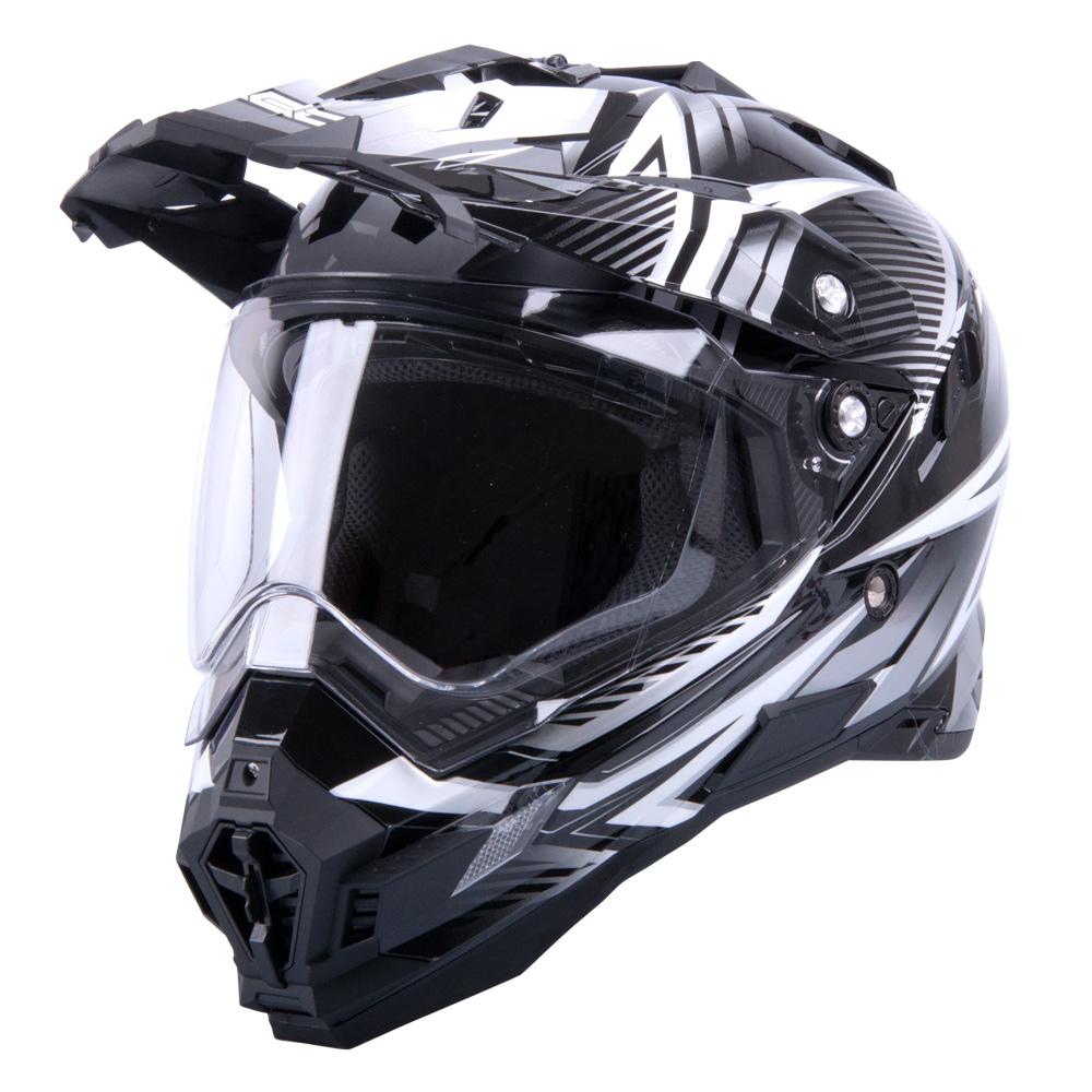 Motokrosová přilba W-TEC AP-885 graphic černo-šedá - XL (61-62)