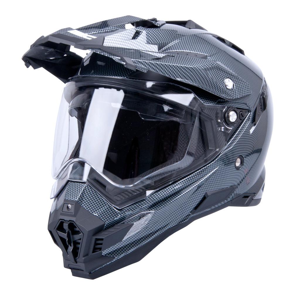 Motokrosová přilba W-TEC AP-885 carbon look XL (61-62)