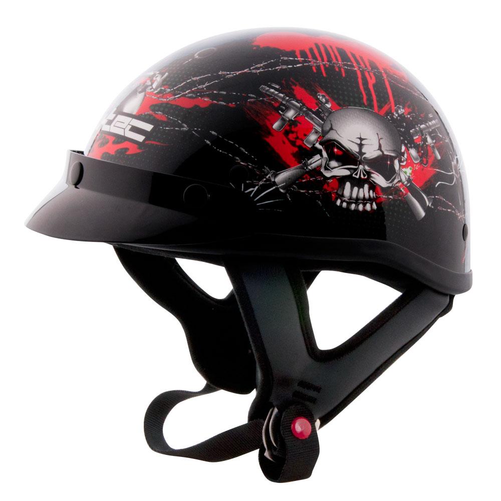 Moto přilba W-TEC AP-70 černo-červená - XXL (62-63)