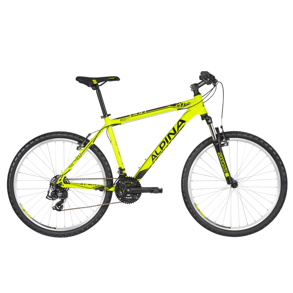 "Horské kolo ALPINA ECO M20 26"" - model 2020 Neon Lime - XS (15"") - Záruka 10 let"