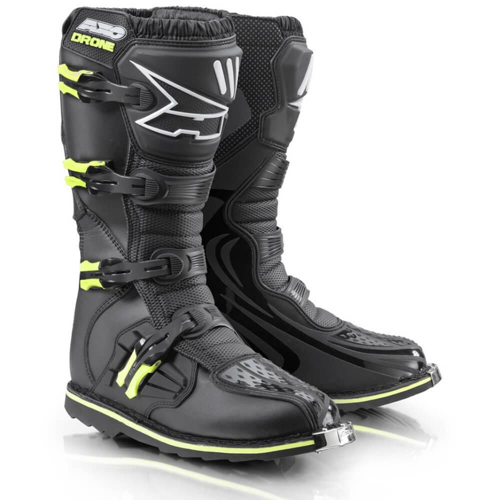 Motokrosové boty AXO Drone Limited Edition černá-fluo yellow - 40