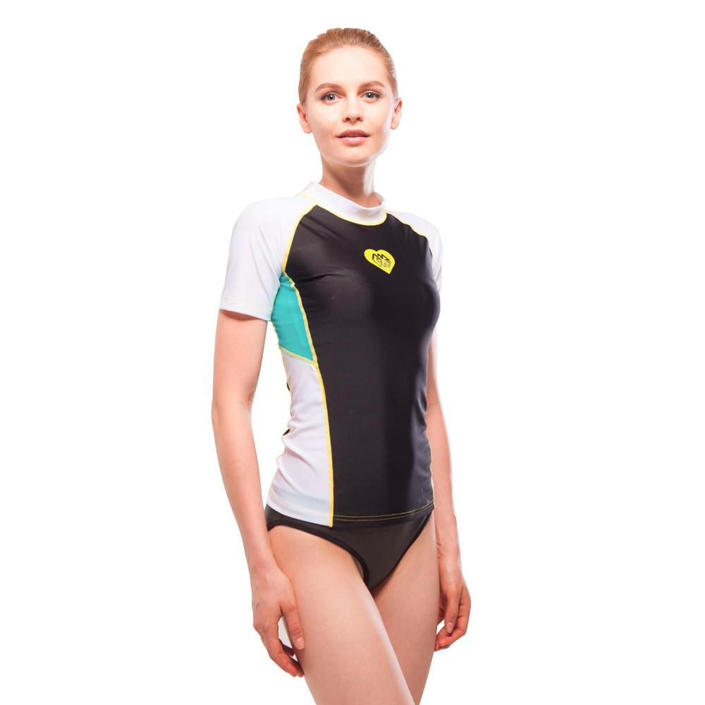 Dámské tričko pro vodní sporty Aqua Marina Alluv černo-bílá - L