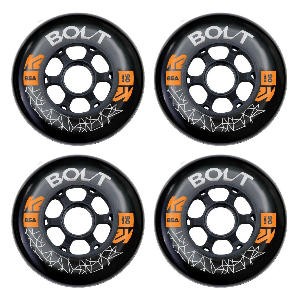 In-line kolečka K2 Bolt 90 mm 4 ks
