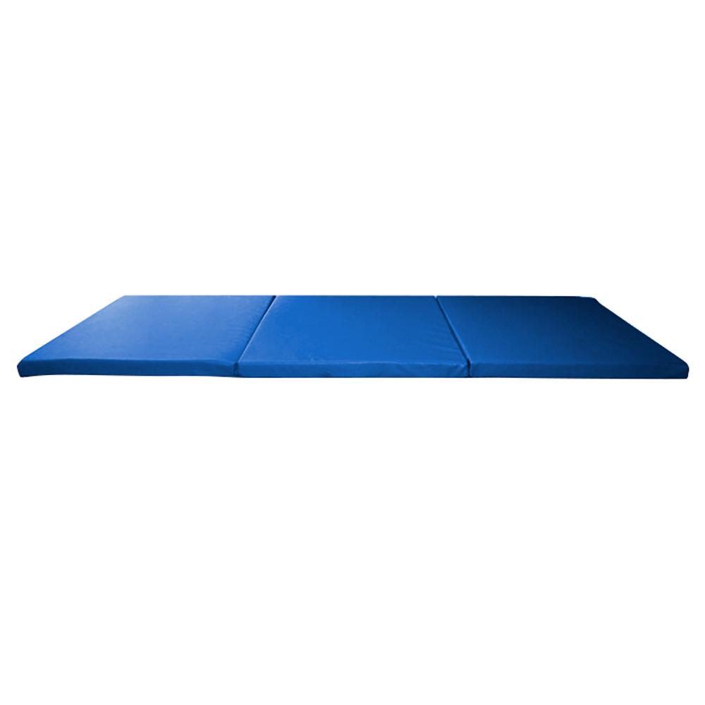 Skládací gymnastická žíněnka inSPORTline Pliago 180x60x5 modrá