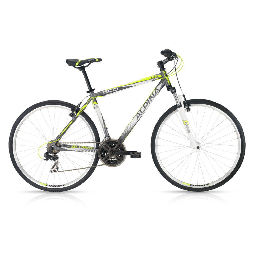 "Crossové kolo ALPINA ECO C10 grey-lime - model 2016 17"" - Záruka 5 let"