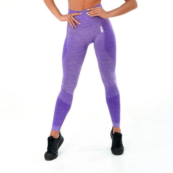 Dámské legíny Boco Wear Violet Melange Push Up  fialová  M/L.  Dámské legíny Boco Wear Violet Melange Push Upnejen že opticky tvarují postavu, ale materiál, který byl použit při výrobě, je takénaprosto prodyšný a absorpční, vy si tak můžete dát pořádně do těla a zároveň zůstat naprosto vsuchu.   vysoký elastický pas jednoduchý střih tvarování hýždí spush-up efektem bezešvé legíny - technologie Seamless vysoce elastický funkční materiál zdravotně nezávadný materiál prodyšný materiál, který odvádí vlhkost vhodné pro fitness, běhání, posilování, jógu, Pilates, aerobik     Velikostní tabulka:     Velikost Obvod pasu Obvod boků Obvod stehna Výška postavy   XS/S 54 – 73 cm 82 – 96 cm 43 –56 cm 156 - 178 cm   S/M 73 – 81 cm 96 – 104 cm 56 – 61 cm 165 - 178 cm   M/L 81 – 90 cm 104 – 110 cm 61 – 66 cm 166 - 180 cm