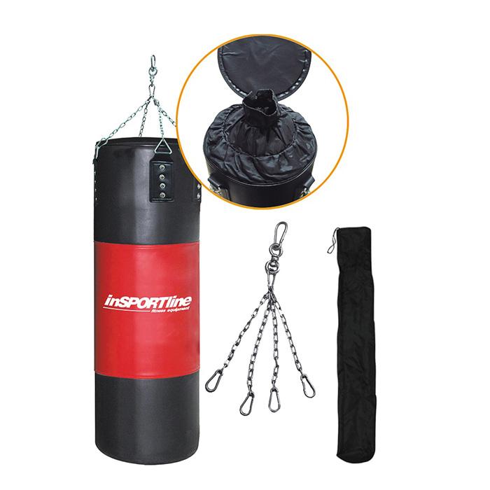 Plnící boxovací pytel inSPORTline 40-80kg černo-červená