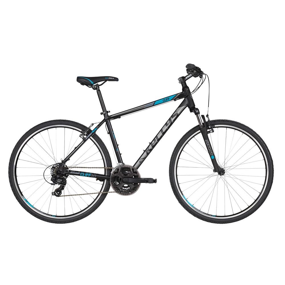 """Pánské crossové kolo KELLYS CLIFF 10 28"""" - model 2019 Black Blue - S (17'') - Záruka 10 let"""