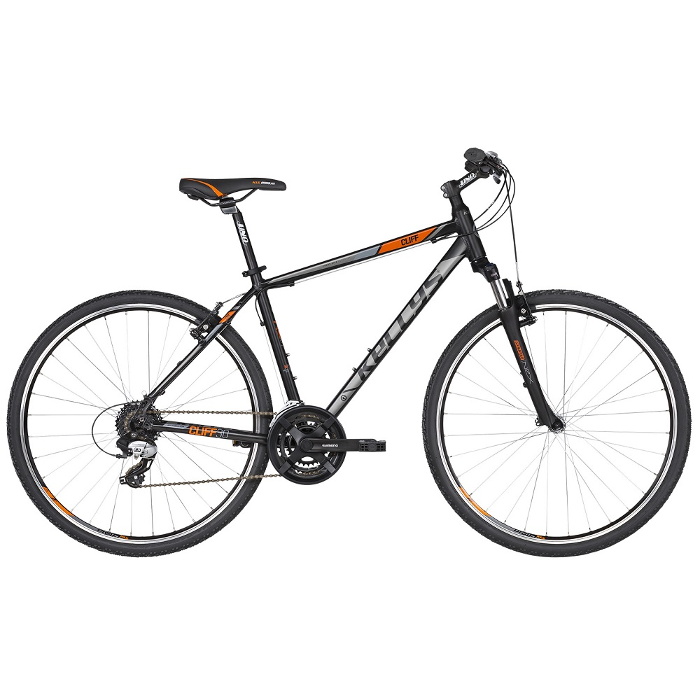 "Pánské crossové kolo KELLYS CLIFF 30 28"" - model 2019 Black Orange - XL (23"") - Záruka 10 let"