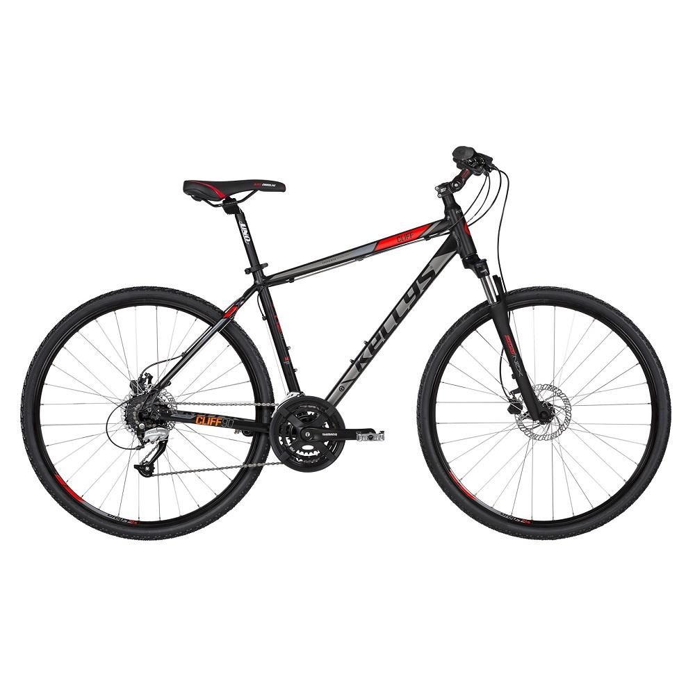 """Pánské crossové kolo KELLYS CLIFF 90 28"""" - model 2019 Black Red - S (17'') - Záruka 10 let"""