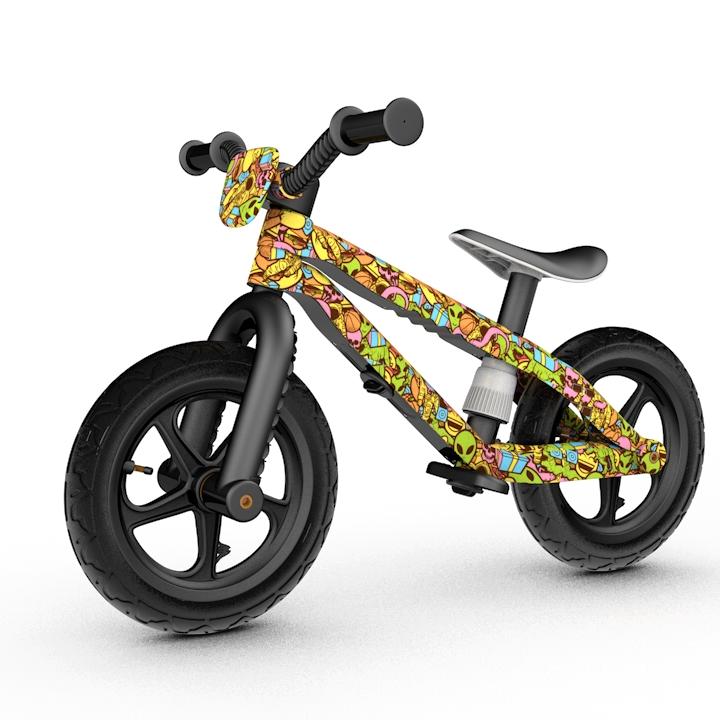 Dětské odrážedlo Chillafish BMXie barevná grafika