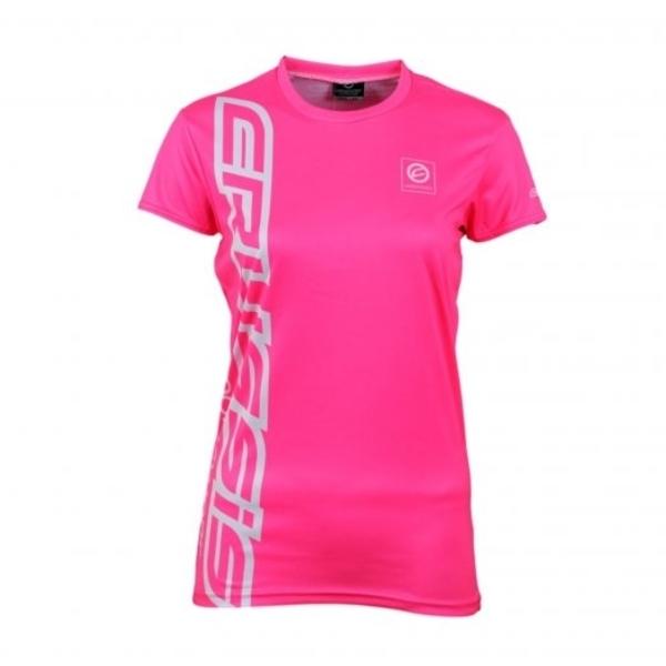 Dámské triko s krátkým rukávem CRUSSIS fluo růžové fluo růžová - S