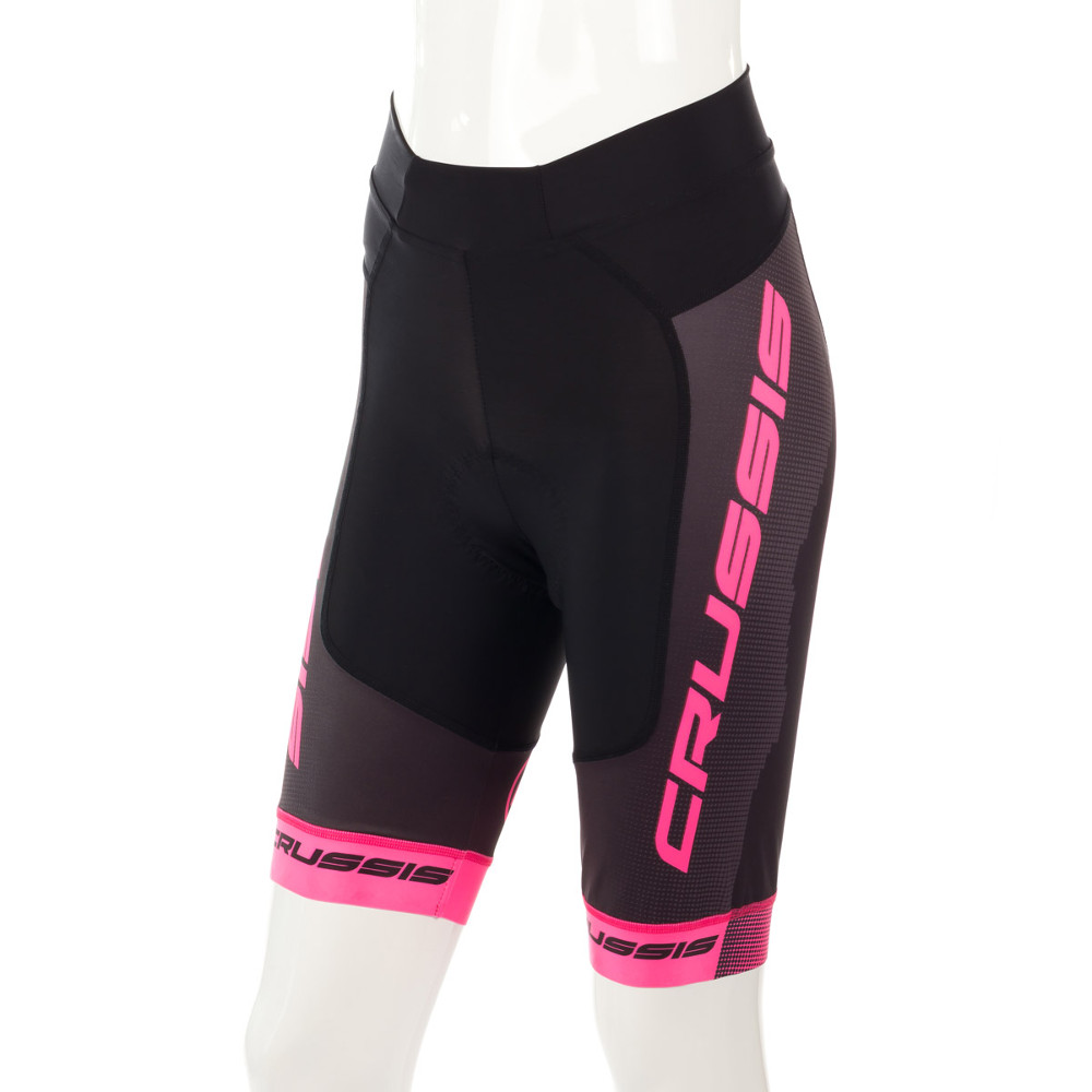 Dámské cyklistické kraťasy Crussis CSW-069  černo-růžová  XS