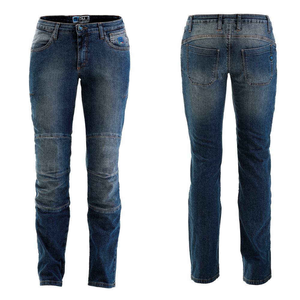 Dámské moto jeansy PMJ Carolina modrá - 26