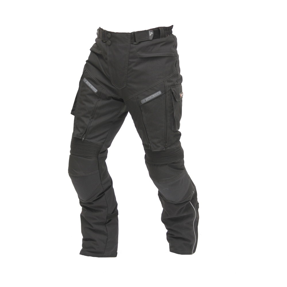 Textilní moto kalhoty Spark Challenger černá - 4XL