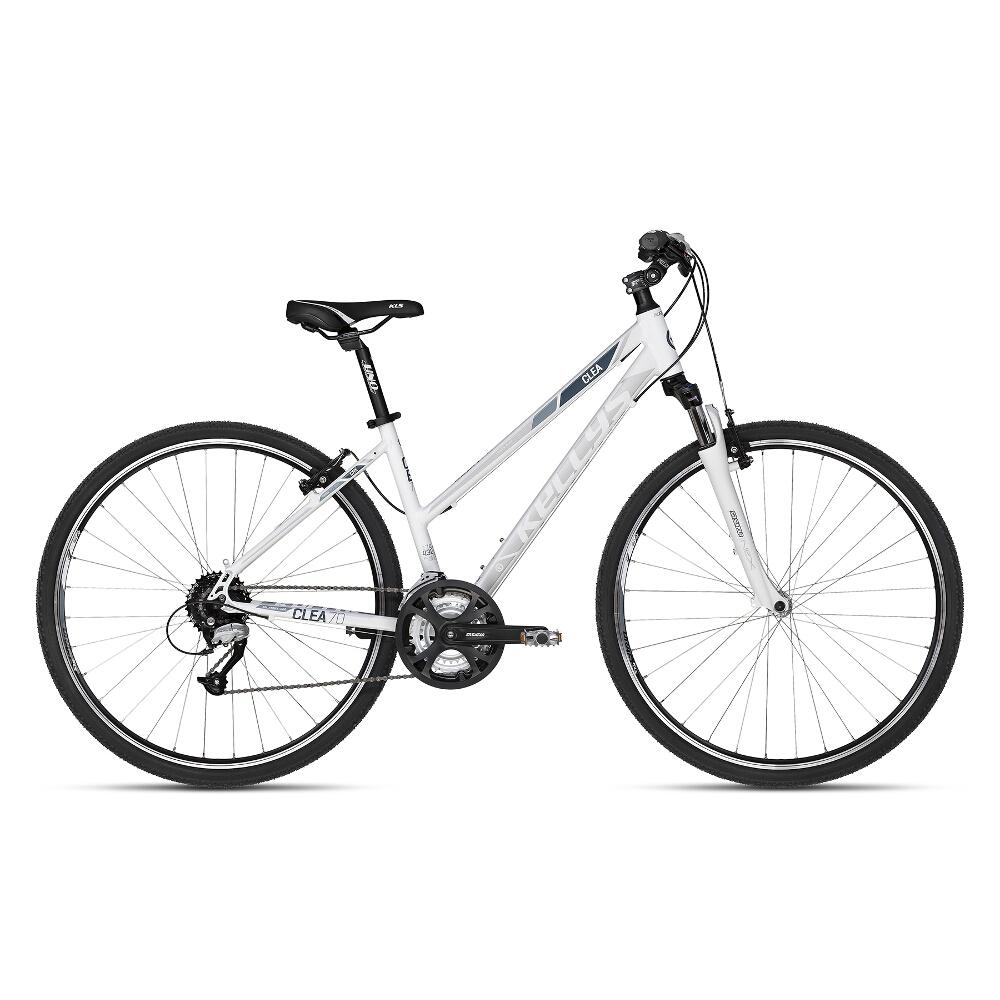 """Dámské crossové kolo KELLYS CLEA 70 28"""" - model 2018 White - 17"""" - Záruka 10 let"""