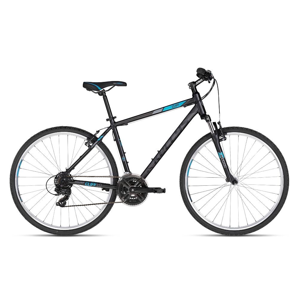 """Pánské crossové kolo KELLYS CLIFF 10 28"""" - model 2018 Black Blue - 17"""" - Záruka 10 let"""