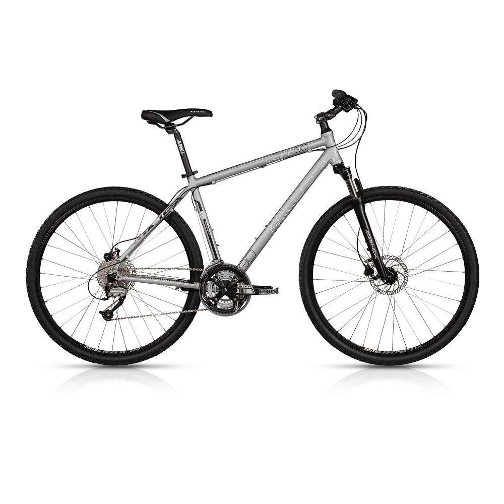 """Pánské crossové kolo KELLYS CLIFF 90 28"""" - model 2017 Silver - 430 mm (17"""") - Záruka 5 let"""