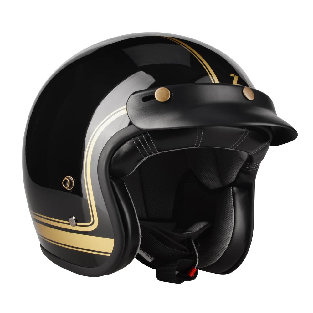 Moto přilba Lazer Conga Cosmo Black Gold Glossy - XXL (63-64) - Záruka 5 let