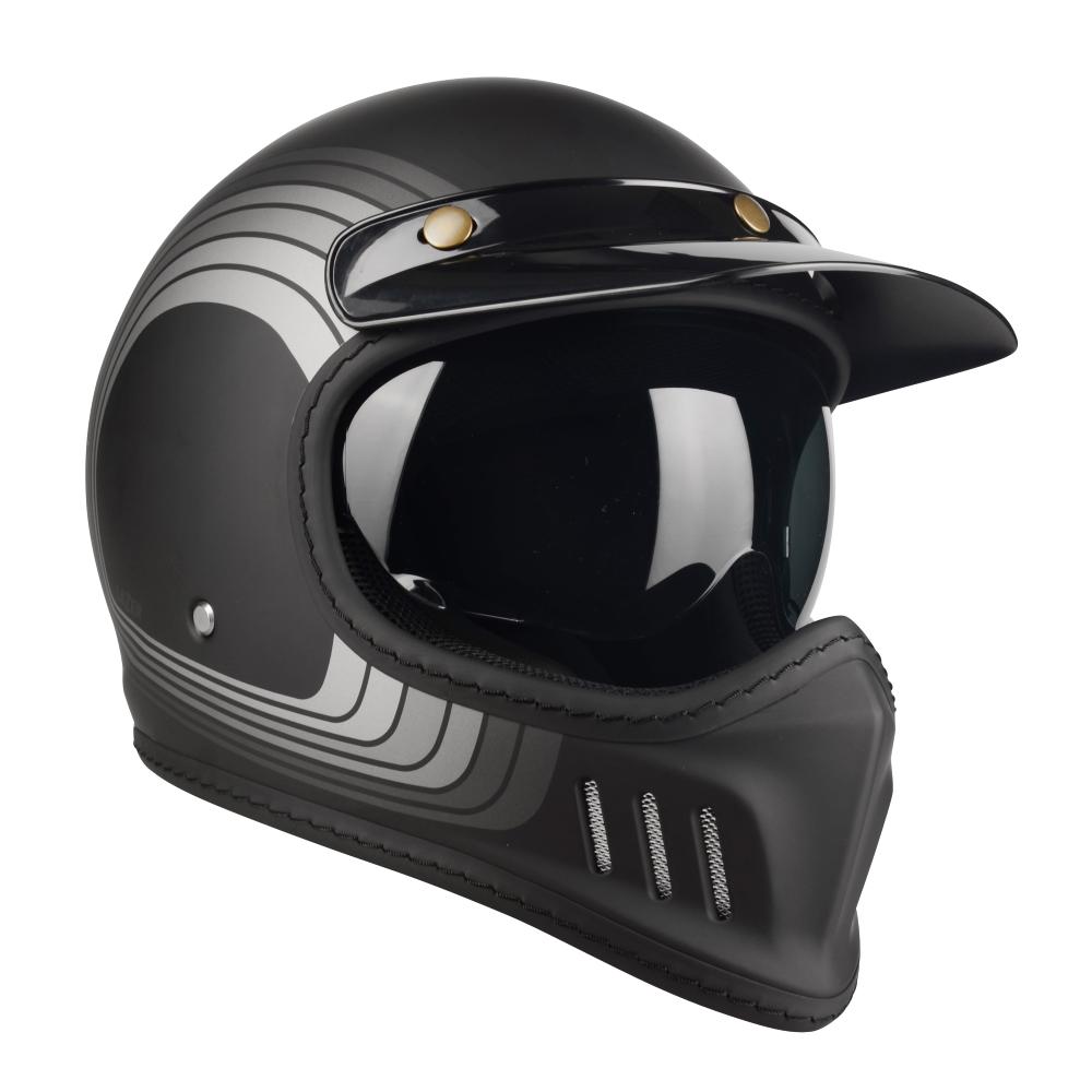 Moto Přilba Lazer Cross Tt Line Grey  Black Grey Matt  Xs (53-54)