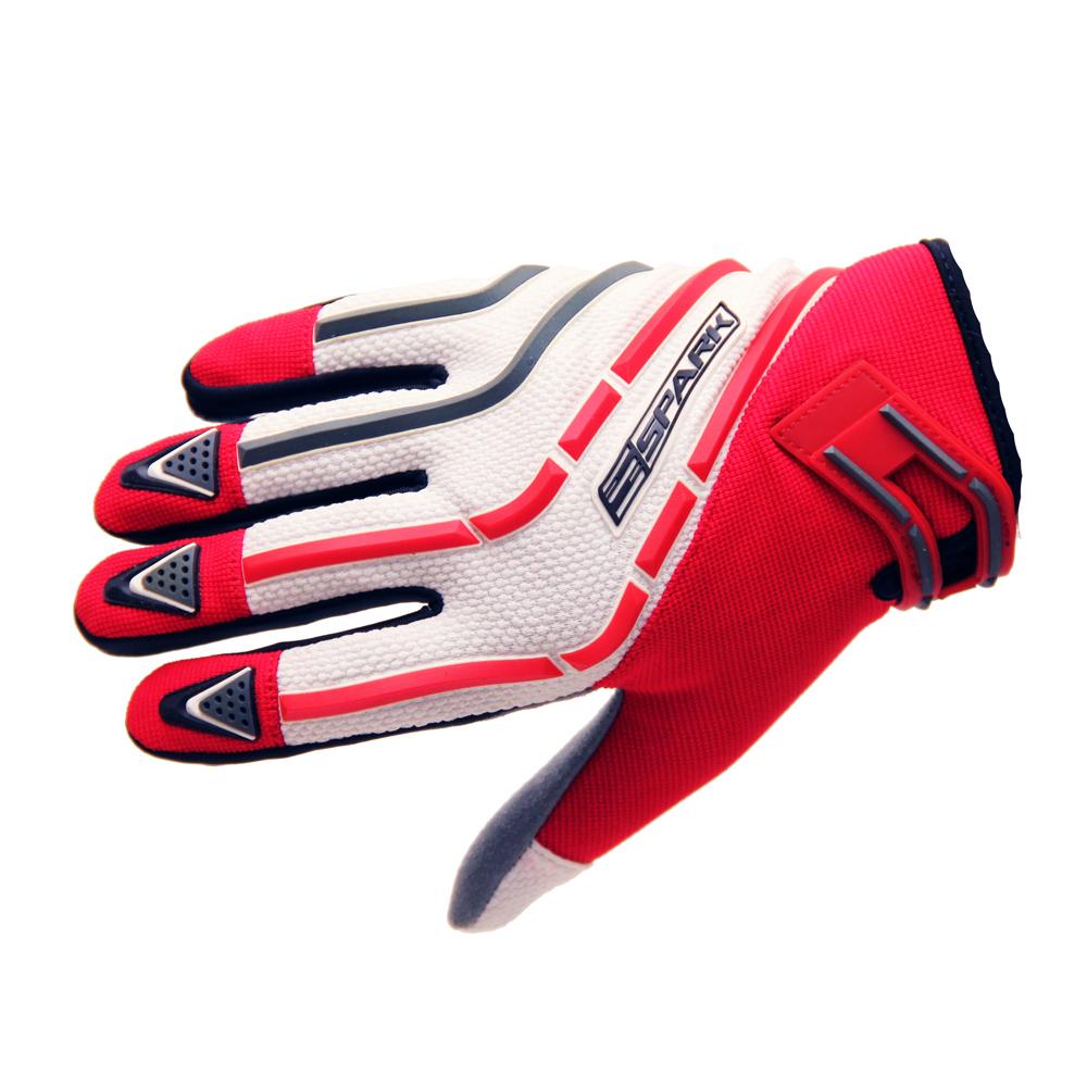 Motokrosové rukavice Spark Cross Textil červená - XS