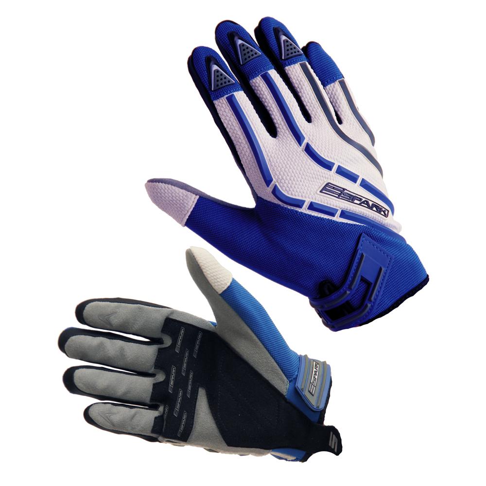Motokrosové rukavice Spark Cross Textil modrá - XXL