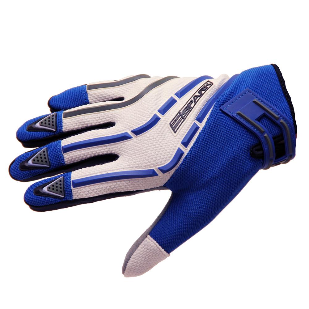 Motokrosové rukavice Spark Cross Textil modrá - S