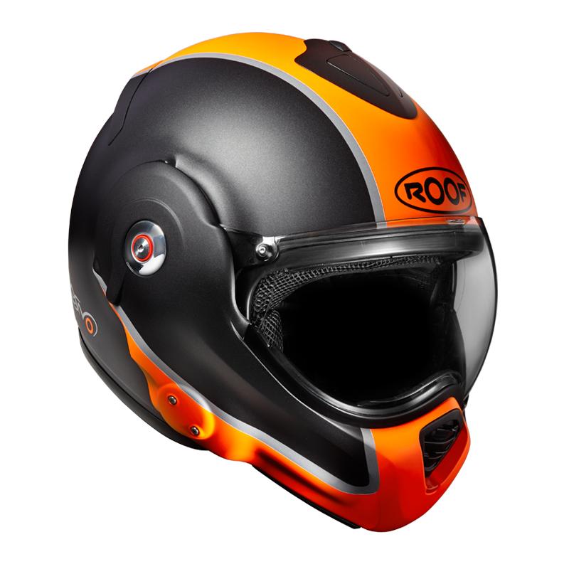 Moto přilba Roof Desmo Flash Mat oranžová - XL (61-62)