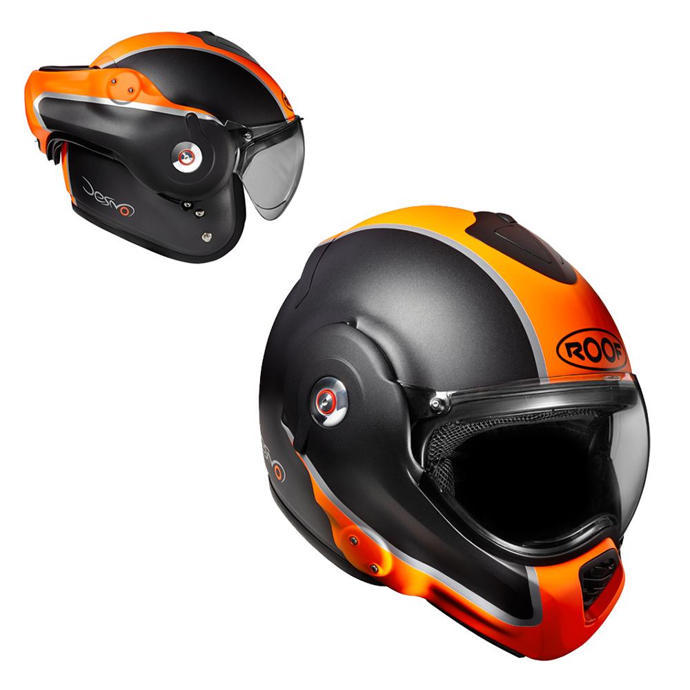 Moto přilba Roof Desmo Flash Mat oranžová - XXL (63-64)