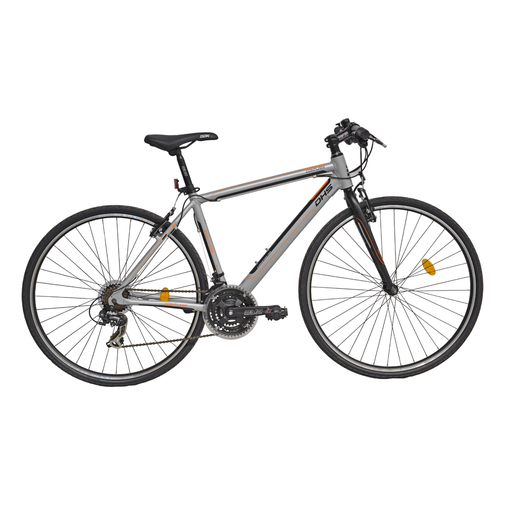 "Crossové kolo DHS Contura 2863 28"" - model 2016 Grey - 19"" - Záruka 10 let"