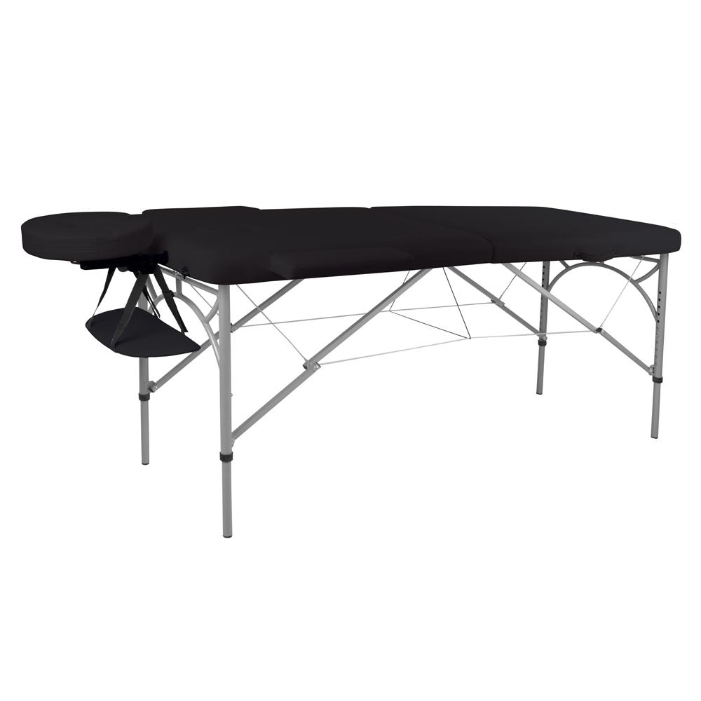 Masážní stůl inSPORTline Tamati 2-dílný hliníkový černá