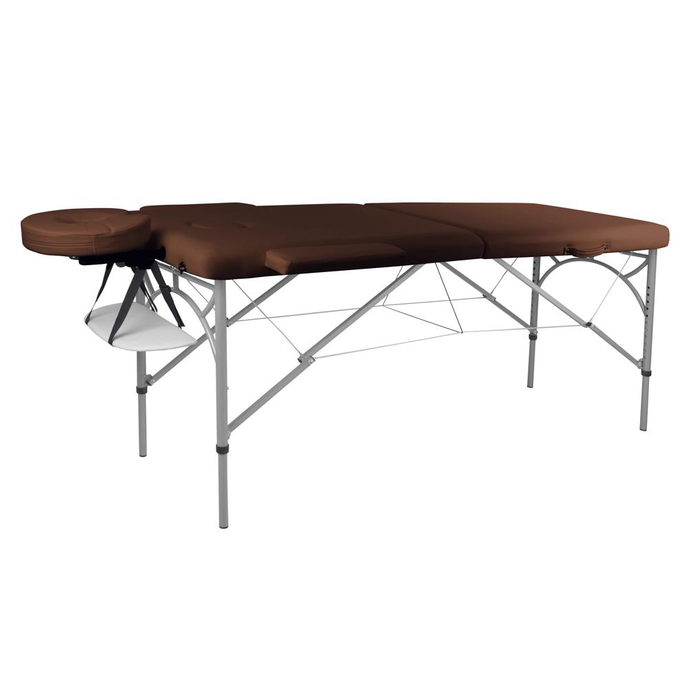 Masážní stůl inSPORTline Tamati 2-dílný hliníkový hnědá