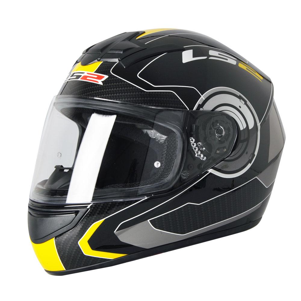 Přilba na motorku LS2 Atmos černo-žlutá - XL (61-62)