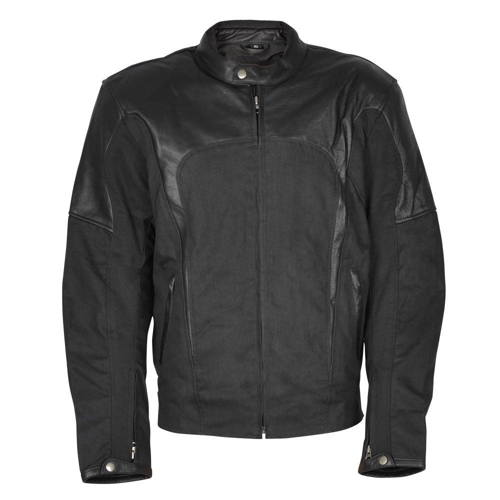 Pánská moto bunda W-TEC Taggy černá - L