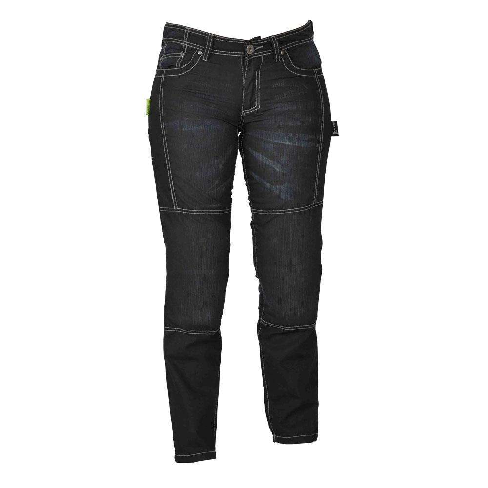 Dámské jeansy na motorku W-TEC Theo černá - 8/XXS