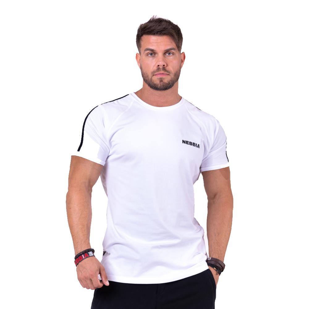 Pánské tričko Nebbia 90' Hero 143 White - M