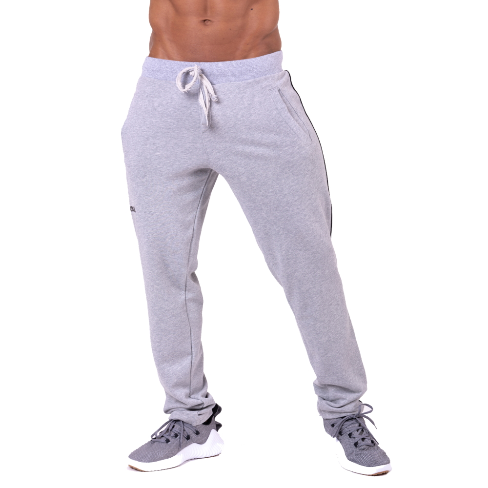 Nebbia Side Stripe Retro Joggers 154 Grey  M
