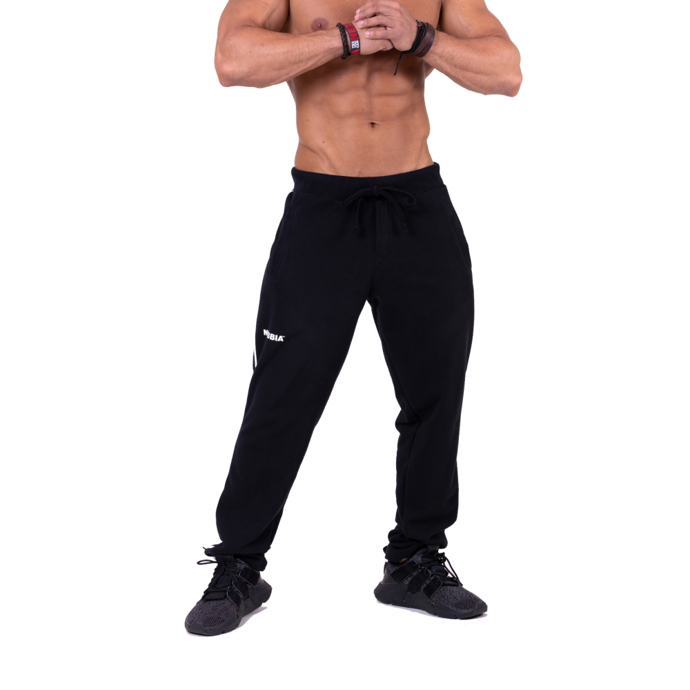 Nebbia Side Stripe Retro Joggers 154 Black  XL