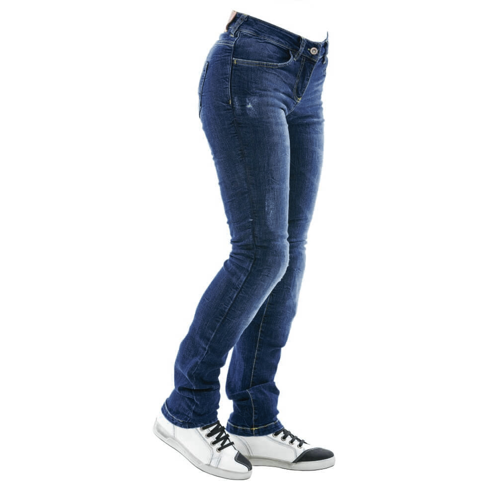 Dámské moto jeansy City Nomad Karen Iron modrá - XS CITY NOMAD