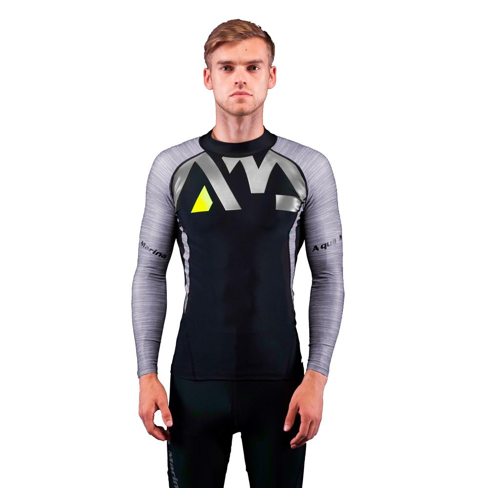 Pánské tričko pro vodní sporty Aqua Marina Division šedá - S