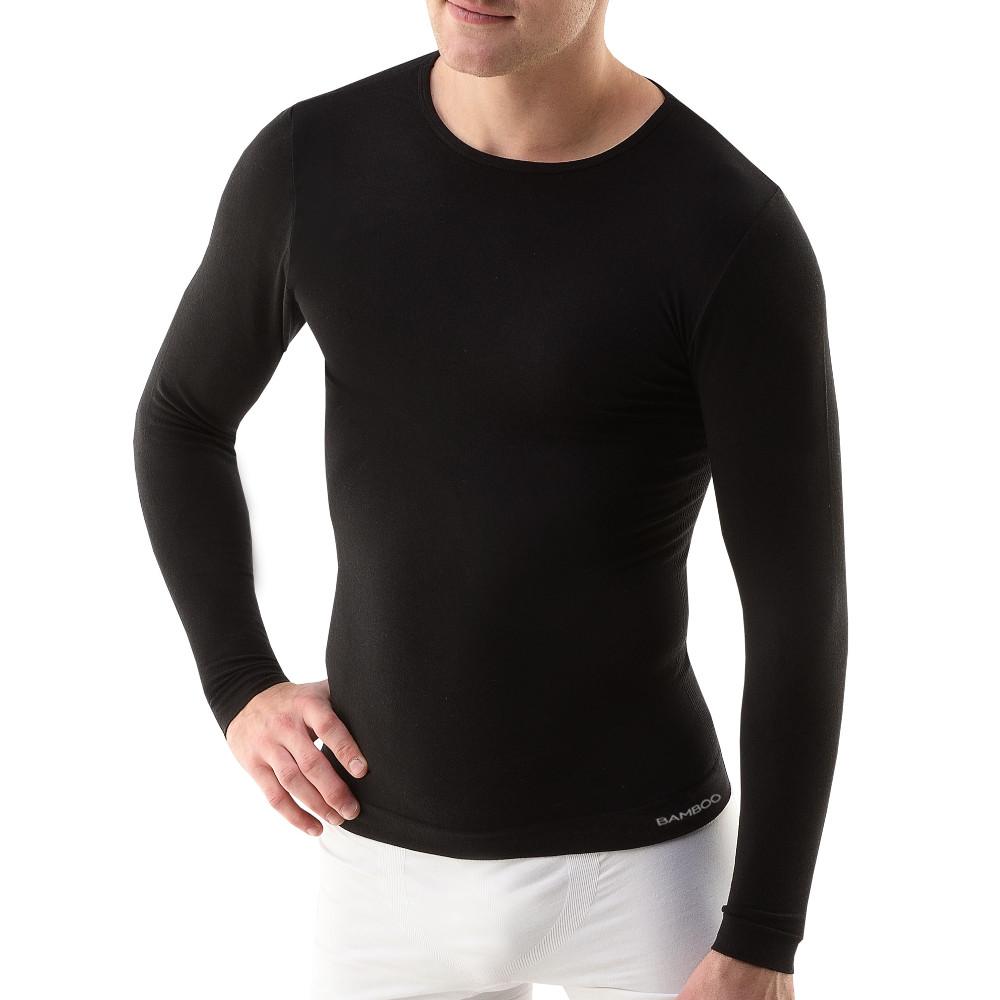 be301ad7b7df Pánské triko s dlouhým rukávem EcoBamboo černá - S M